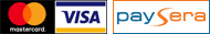 Visa/Mastercard, all other banks/countries via Paysera
