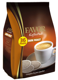 Coffee pads (pods) Favor Dark Roast 36 pads